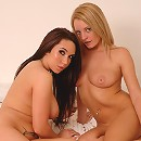 British lesbian teens play with each others tight bodies