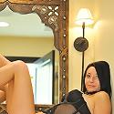 Jasmin poses in sexy black lingerie