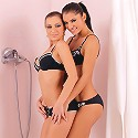 Nevena and Lucile - Sultry lesbians have sex in shower