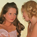 Lesbian hotties Sandra and Carli getting horny as they french kissing and fondling their lickable goodies
