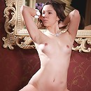 First time model posing naked on the queens chair