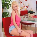 Nubiles.net Janet - Naughty babe Janet stuffs her needy pussy with a dildo