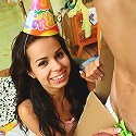 Teen Kiki gets fucked hard at her 18th birthday party